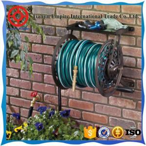Quality steel garden hose reel cart expandable water hose  nozzle garden hose for sale