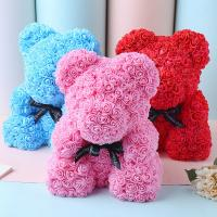 China Lovely Gift 30 Colors Artificial Rose Foam Rose Bear On Sale For Christmas on sale