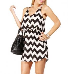 Quality Fashion Black White Spaghetti Strap Mini Dresses For Juniors / Girls / Ladies for sale