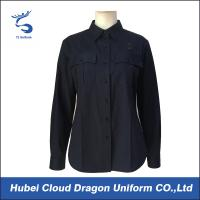 Quality Navy Blue Military Police Shirts , Tactical Long Sleeve Shirts For Women for sale