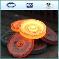 Quality Carbon steel hot forged gear wheel for wire rope hoist for sale