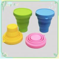 Buy Silicone Rubber Products silicone folding cup with lid for picnic / home / at wholesale prices
