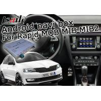 Quality Skoda Rapid Bluetooth USB Car Multimedia Navigation System With ADAS Lane Monitoring for sale