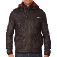 China S M L XL nylon soft Shell winter warm Fleece Lined Leather jacket for men on sale