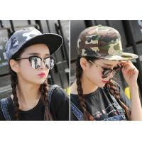 Quality Cool Custom Caps Hats Embroidery / Camouflage Hip Hop Cap For Girls for sale