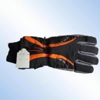 Quality 100% Polyester Ski Gloves with Zipper and C40 Lining for sale