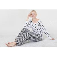Quality Comfortable Dotted Womens Pyjama Sets Long Sleeve Top And Pants Soft Handfeel for sale