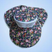 Quality Women's 100% Cotton Cap with Printed Design for sale
