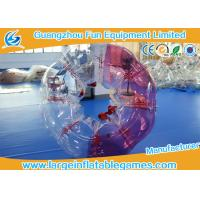 Buy cheap Red / Blue Body Bubble Football Soccer TPU Human Bubble Football Ball For Adult product