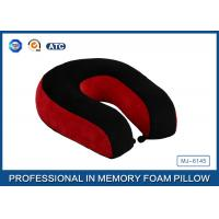 Buy cheap Red and black color U shape memory foam neck travel pillow for sleeping product