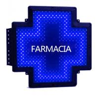 Printed Display LED Cross Sign Outdoor Moving Message Sign Cross Shape Farmacia