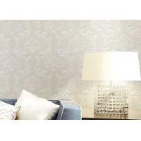 Buy cheap Floral Wet Embossed Non - Woven European Style Wallpaper For Study Room product