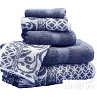 Quality Luxuriously Soft Quickly Absorbed Yarn Dyed Cotton Jacquard Towel Set for sale