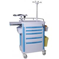 China ABS Utility Equipment Emergency Crash Cart Furniture OEM Design With Trash Can on sale