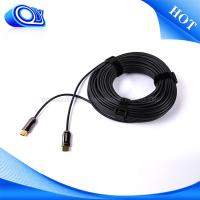 China Indoor Mini Mini HDMI Cable 60HZ , Military Fiber Optic Cable Softer / Lighter on sale