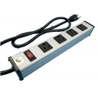 Buy cheap Metal 4 Way Multi Outlet Power Strip With On Off Switch For Workshop / Office from wholesalers