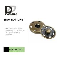 China Brass Custom Sew On Snap Buttons For Overcoat Down Jacket / Cotton - Padded Clothes on sale