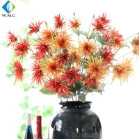 China Small Artificial Flower Bouquet , Crab Claw Chrysanthemum For Living Room Decoration on sale