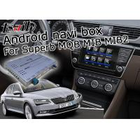 Quality Skoda Superb GPS Navigation Box , Android Car Navigation Box 4 / 2 GB Running Memory for sale