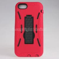 Buy cheap Double Layer Hybrid Robot Plastic+Silicon Stand Case For iPhone 5C from wholesalers