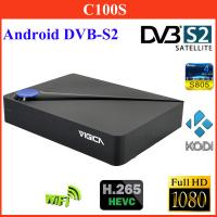 Buy cheap Vigica C100S Android DVB-S2 Combo Digital TV Receiver AML S805 Qual Core Google Tv Player w/ CCCAM / 4 USB / 1GB / 8GB from wholesalers