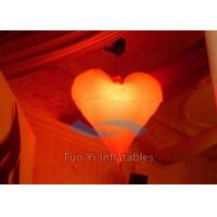 Quality Romantic Heart Shaped Inflatable Party Stage Decoration With Multi - Color Light for sale