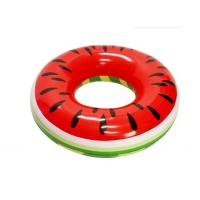 """Quality PVC Watermelon Inflatable Swim Ring Pool Float  46"""" X 46"""" X 10"""" Quick Inflation for sale"""