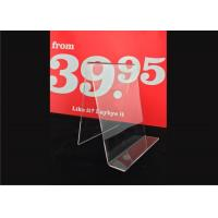 Quality Custom Clear Acrylic Sign Holder , Acrylic Menu Poster Holders For Display for sale