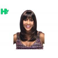 Quality Celebrity Synthetic Hair Wig Long Natural Straight Full Snood Wig For Women for sale