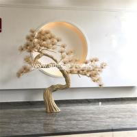 Yellow Artificial Poly Resin Pine Trees Needle Branch Club Festivals Occasion for sale