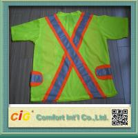 Quality Orange Red Green Pink Traffic Safety Vest Reflective Clohting for Security 100% Polyester for sale