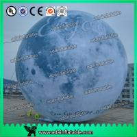 Quality 6m Giant Event Logo Advertising Inflatable Moon Customized Inflatable Planet Decoration for sale