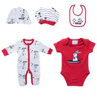 Quality Red Rabbit Color Infant Baby Boy Clothing Sets Stylish Romper Sets Quick Dry for sale
