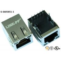 China Voip Ethernet POE RJ45 Connector Magnetic Shielded With Resistor LEDS on sale
