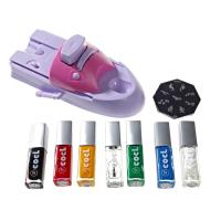 China Lovely DIY Nail Art Stamping Printing Machine With 6 Metal Pattern Plates on sale