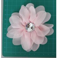 Quality Chiffon artificial pink flower corsage for sale