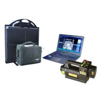 150kV 22mm Steel Portable X-ray baggage Inspection System For check point , vehicle