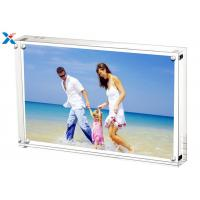 Quality 5*7'' Magnetic Acrylic Photo Frame Silk Screen Printing With Single / Double Sided for sale