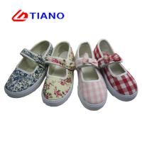 China Comfort Hand Made Adjust Strap PVC Girls Canvas Shoes on sale
