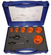China 9 Pieces Bi Metal Hole Saw Kit For Metal , High Speed Bi Metal Hole Cutter Set on sale
