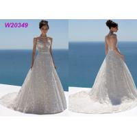 China Sweetheart Neckline Spaghetti Straps Floral Lace and Tulle Bridal Ball Gowns on sale