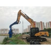 China Accurate Pile Driver , Photovoltaic Series Vibro Machine For Sheet Pile on sale