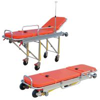 Quality Anti Corrosion Patient Transport Stretchers , Collapsible Ambulance Trolley for sale