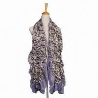 Quality Cotton Scarf, Pastorable Style, with Floral Printing and Elastic Neck Warmers for sale