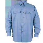 Quality Denim workwear fireproof Uniform Work Shirts Fabric mens clothing for sale
