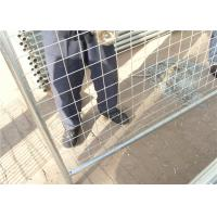Buy cheap Outdoor commercial metal galvanized Australia temporary fencing for safety from wholesalers