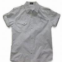 Quality Men's Casual Shirt with Short Sleeves, Available in White for sale