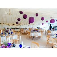 Quality Luxury Wedding Tents Aluminum Profile Lining Deco Different Desk and Table Options for sale