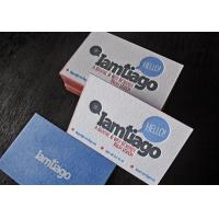 Quality private design paper name card with glossy finished for sale
