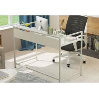 Quality Simple Steel Wood Desktop Computer Desk For Household , Modern Office Table for sale